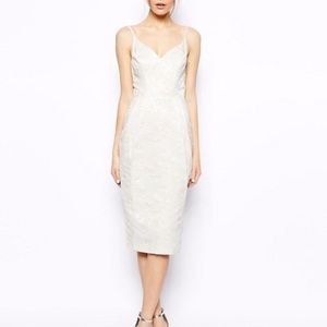 💐NEW 💐ASOS Iridescent Ivory sexy Cocktail Dress